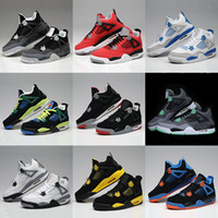 Wholesale New Fashion AJ4 Shoes Mens Basketball Shoes EVA bottom real lether surface colors for choose Size