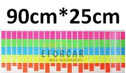 Wholesale Sound Activated Car Panel - 1 x Sound Rhythm design Music Activated EL Equalizer Car decration Sticker Glow Flash Panel Multi Designs LED car music light