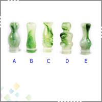 Electronic Cigarette green jade - New Arrival Jade Green Emerald Mouthpiece Fashion Drip Tip Type fit to almost atomzer for ego t ego c ego vv Electronic Cigarette