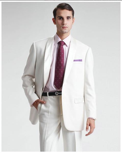Trajes blanco para hombres fotos for Trajes de novio blanco para boda