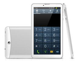 7 pouces 3G Phablet Téléphone Tablet PC d'Appel MTK6572  Dual Core Android 4.2 tactile capacitif WCDMA GSM Bluetooth Caméra Dual Sim Carte