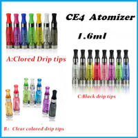 Cheap Quality Ego CE4 Clearomizer Atomizer Cartomizer ce5 ce6 tank 1.6ml Vaporizer for ego-t ego-k ego-c battery e cigarette starter kit 8 colors