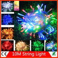 Wholesale 15PC Multicolour M Led christmas lights outdoor String Light for Christmas Party Wedding EU US PLUG With Modes Wedding curtain light