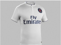 Wholesale 2014 PSG Away White Soccer Wears New Style Sports Apparel Cheap Discount Thai Quality Wears Stylish Club Soccer Apparel Mix order
