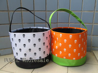 Wholesale Special And Lovely Skull Printing Microfiber Halloween Holiday Bucket