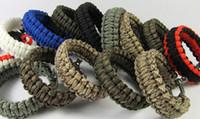 Wholesale Outdoor Camping Umbrella U shaped Steel Buckle Bracelet Rope Bracelet Bracelet Safety Rope Survival Bracelets