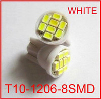 Wholesale NEW White SMD T10 LED Wedge Car Lights Bulbs Auto BULB smd led