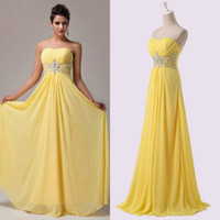 New Coming 2015 Strapless Prom Dresses Crystal Beading Eveni...
