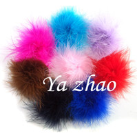 Wholesale 3 Marabou Feather Puff feather flower for Hair accessory color