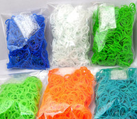 Wholesale Colorful Rainbow Loom kit Rubber band loom Bands bracelet amazing gift for children Mixed colors handmade DIY New Hot Fedex Free