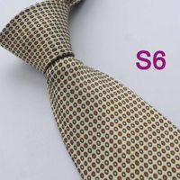 Cheap BRAND NEW COACHELLA Men ties 100% Pure Silk Tie Beige With Brown Blue Spot Woven Necktie Casual Formal Neck Tie for Men dress shirts Wedding