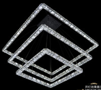 Cheap Hot selling 2014 the newest Three sides of the crystal pendant light Raimond Square Crystal chandelier