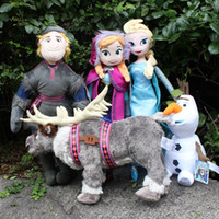 Wholesale Frozen Family Frozen Anna ELsa Olaf Sven Plush Toys Reindeer Children Christmas Gifts Free Drop Shipping