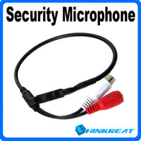 Wholesale 2014 Hot Selling Audio Monitor Mini CCTV Microphone for Security CCTV PTZ Cameras VB30