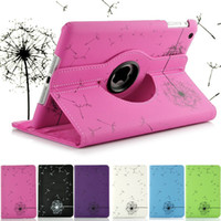 Wholesale DHL Fashion Dandelion Design Degree Rotating PU Leather Case for iPad Mini iPad mini2 in Stock