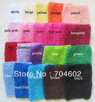 Wholesale 20 color Fashion crochet Tutu Headbands Inch Baby Elastic Headband H015