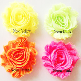 Wholesale 2 quot frayed chiffon shabby flower yards shabby chiffon flowers for headbands colors for selection