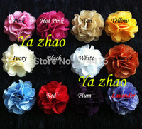 Cheap burlap fabric flower Best Fabric flower for Headbands
