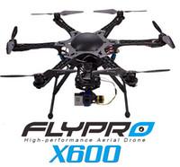 Bon Marché Aérien drone photographie-FLYPRO X600 avec DEVO 7 Drone RC Hexacopters pour FPV Photographie aérienne RTF 2.4GHz DHL dropshipping gratuit de goodmemory