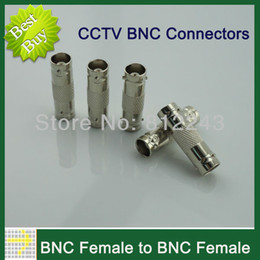 Wholesale 10pcs Splitter Plug Adapter BNC Female Connector to BNC Female Coupler for CCTV cable Security System Video Camera