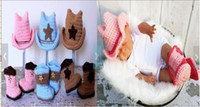baby cowboy boots - 6 off Men and women the same paragraph crochet baby cowboy hat and boots shoes cowboy hat set Cotton HIGH Quality