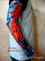 Wholesale New Fashion Style Nylon Stretchy Fake Tattoo Sleeve Arms Fancy Dress Costume