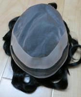 Wholesale toupee men wig lace men s toupee quot size b color DHL