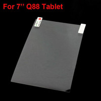 Wholesale Clear transparent Screen Protector Film for inch Q88 A13 A23 Tablet PC MID DHL Freeshipping MQ500
