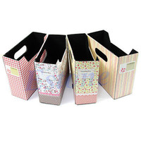 Cheap Free Shipping 5pcs lot Cute Makeup Cosmetic Stationery DIY Paper Board Storage Box Desk Decor Organizer