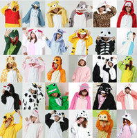 Wholesale 21 Color Flannel Winter Animal Pajama Sets Women and men Couple Household Clothes Family Women Sleepwear Pajamas