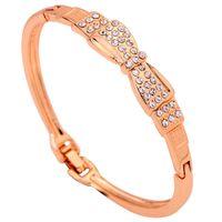 10k gold bracelet - Yazilind Jewelry Unique K Yellow Gold Filled Bracelet Bowknot Shape Crystal Bangle Bracelet Lady