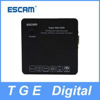 Wholesale ESCAM K104 Onvif Channel P P P Mini Portable Network Video Recorder NVR Support Onvif G Wifi Black White Colors