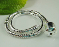 Chains pandora bracelet - 2014 Hot Sale Pandora Bracelet in Silver Pated alloy mm Snake Chain Fit European Bead Charms European Style Bracelet Sizes Available