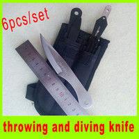 Wholesale 2014 new throwing knife diving knife Tied hand knife bbq camping knife outdoor utility hiking knives set best christmas gift A195H