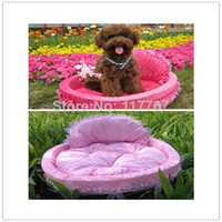 Wholesale New Pet Dog Cat Soft Princess Bed High Quality Cute PP Cotton Pet House Bed Cat Dog Kennel Warm Cushion Basket Lovely