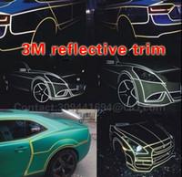 Cheap 45m Car Body PVC Blue Reflective Sheet Vinyl Moulding Trim Film Water Proof 3M Tape Universal JDM ACCORD S14