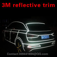 Cheap 45m Car Body PVC White Reflective Sheet Vinyl Moulding Trim Film Water Proof 3M Tape Universal JDM FOR HONDA NISSAN