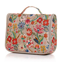 Wholesale 1pc Flowers Bloom Hanging Toiletry Bag Travel Kit Cosmetic Makeup Case