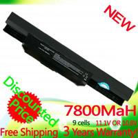 Wholesale 7800mAh battery for Asus A32 k53 A42 K53 A31 K53 A41 K53 A43 A43J A53J A53 K43 K53 k53s X43 X43s X44 X53 X54 X84 X53S X53SV