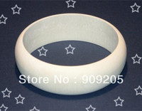 Cheap Wholesale-OP-Good wood unfinished wooden bangles wide wooden bracelet DIY wooden jewelry 15pcs lot SMT-121J