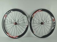 Wholesale SRAM S50 map of mm wheels Carbon SRAM S50 Road Bike Wheels full carbon bicycle wheelset carbon fiber road SRAM S50 bike wheels