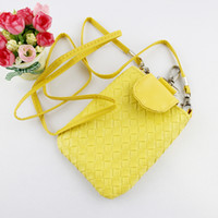 Wholesale Purse Lipstick Coin Cell Phone Case Mobile Bag Pouch Woven bag Lovely Shoulder Cross Body Bag