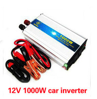 Cheap Hot Sale 220V 1000W Modified Sine Wave USB Mobile Car Power Inverter DC to AC Free shipping