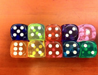 Wholesale 2013 NEW MM High quality transparent Poker dice for Gambling Game Dice Color random