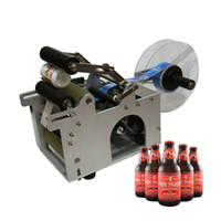 Wholesale Semi automatic round bottle labelling machine labels applicator can container labeller label sticking tools equipment bottle packaing packer