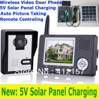 Wholesale Home Villa G Wireless Color Video Door Phone System quot TFT LCD Monitor IR Camera Video DoorBell Intercom Kit Solar Charging