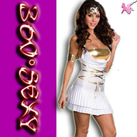 Cheap mascot Free shipping ( 1 sets = dress + armlet + chest wrap)greek goddess clothing women uniform party club costume HYD007