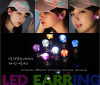 Wholesale LED Earring Studs Light Up Diamond Style for Party New Year Xmas Fun Crystal Korean Edition Stud Earrings