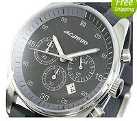 ar strap - fashion Men s AR5866 AR Black Chronograph Dial Watch japanese quartz movement Grey rubber strap luxury wristwatches