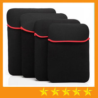 Wholesale Slim Soft colorful Laptop Sleeve Bag for inch tablet PC MID Notebook Soft Cloth ipad Waterproof Case Tablet liner bags Free